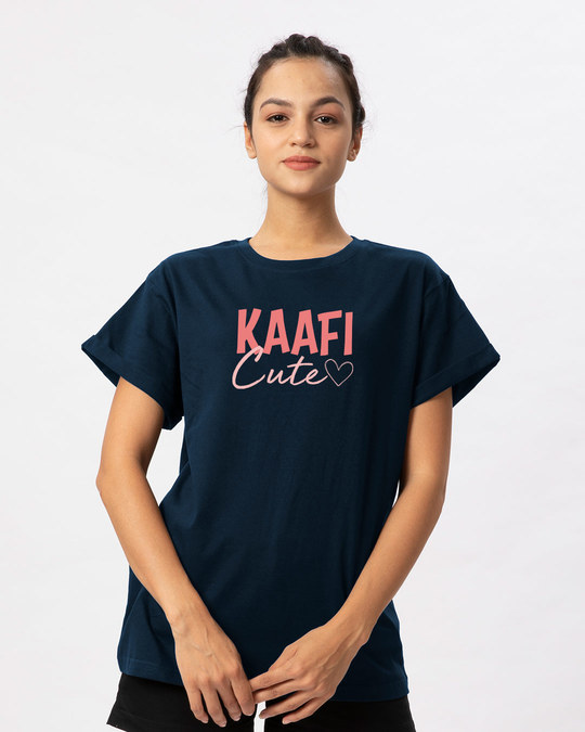 Shop Kaafi Cute Boyfriend T-Shirt-Front