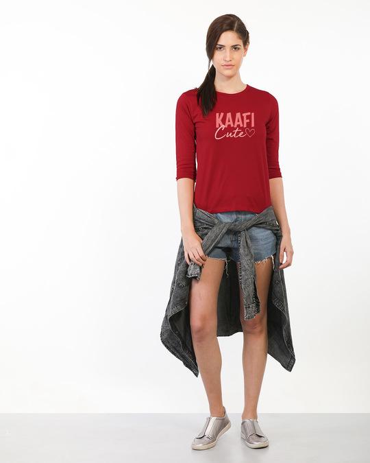 Shop Kaafi Cute Round Neck 3/4th Sleeve T-Shirt-Design