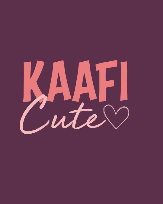 Shop Kaafi Cute Round Neck Crop Top-Full