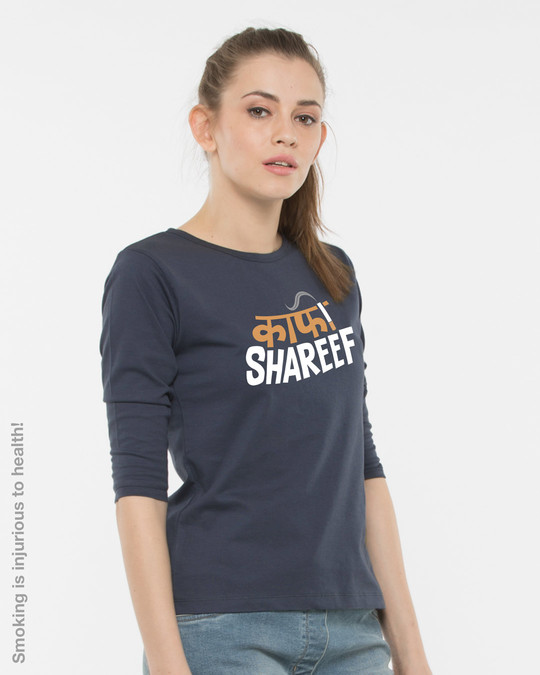 Shop Kaafi Shareef Round Neck 3/4th Sleeve T-Shirt-Back