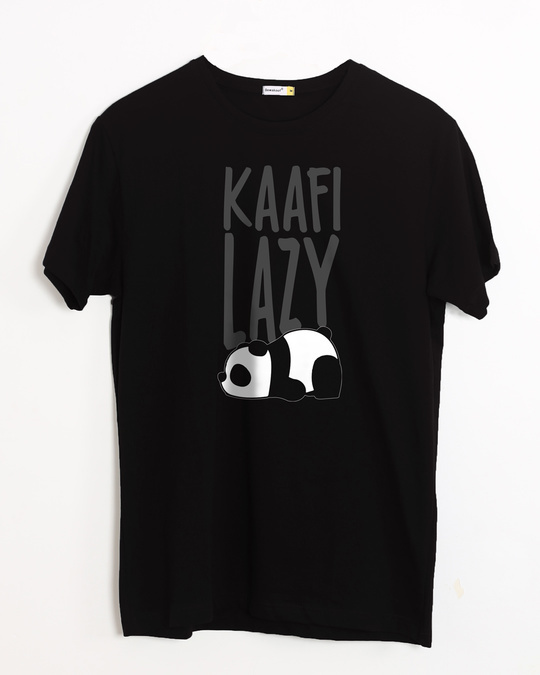 a2d4347577d9c Buy Kafi Lazy Printed Half Sleeve T-Shirt For Men Online India ...