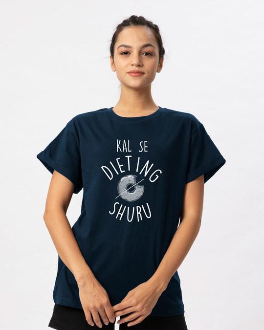 Shop Kal Se Diet Boyfriend T-Shirt-Front