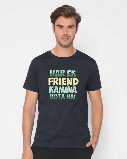 Shop Kamina Friend Half Sleeve T-Shirt-Back