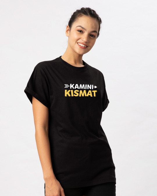 Shop Kamini Kismat Boyfriend T-Shirt-Back