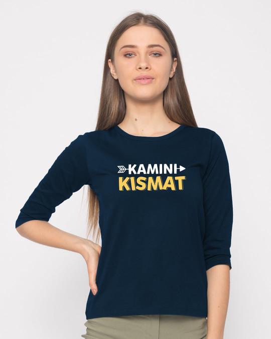 Shop Kamini Kismat Round Neck 3/4th Sleeve T-Shirt-Front