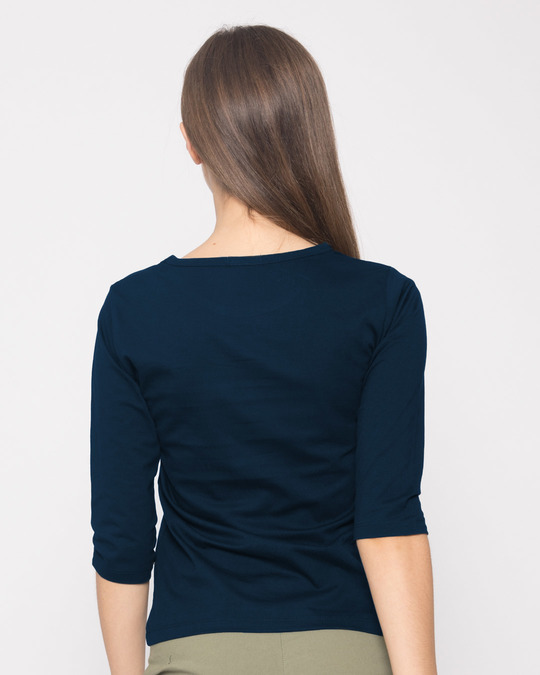 Shop Kamini Kismat Round Neck 3/4th Sleeve T-Shirt-Full