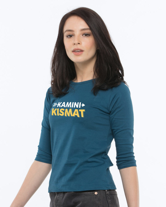 Shop Kamini Kismat Round Neck 3/4th Sleeve T-Shirt-Back