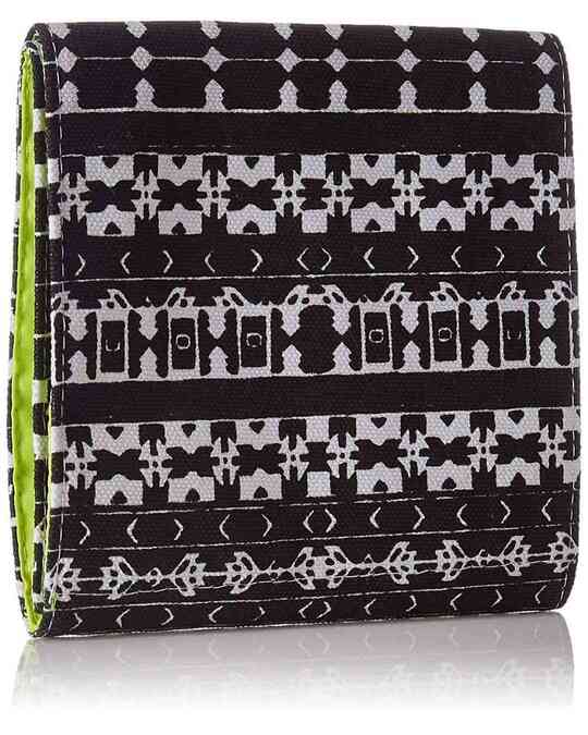 Shop Trifold Sanitary Napkin Printed Canvas Pouch-Back