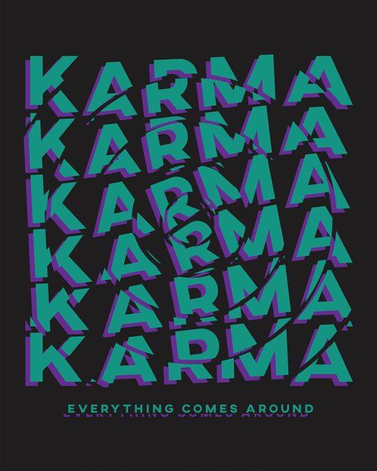 Shop Karma Comes Around Full Sleeve T-Shirt Black-Full