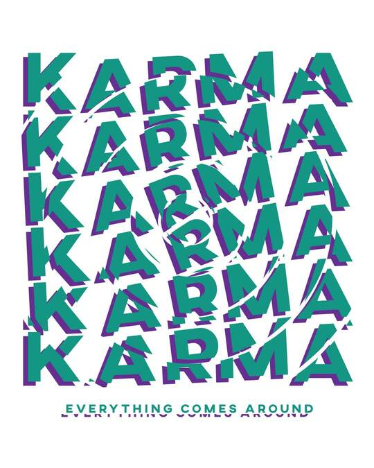 Shop Karma Comes Around Full Sleeve T-Shirt White-Full