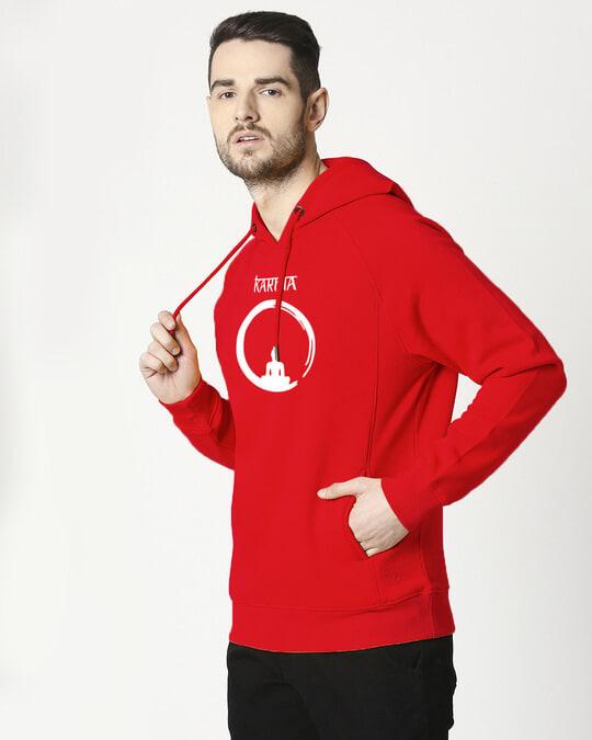 Shop Karma Cycle Cut & Sew Sweatshirt Hoodie-Back