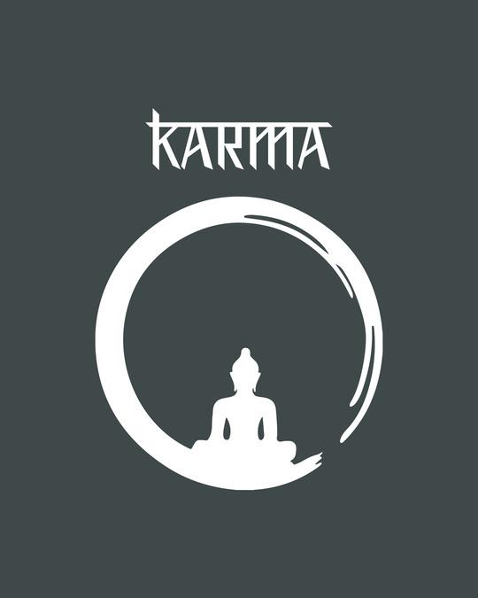 Shop Karma Cycle Half Sleeve T-Shirt Nimbus Grey-Full