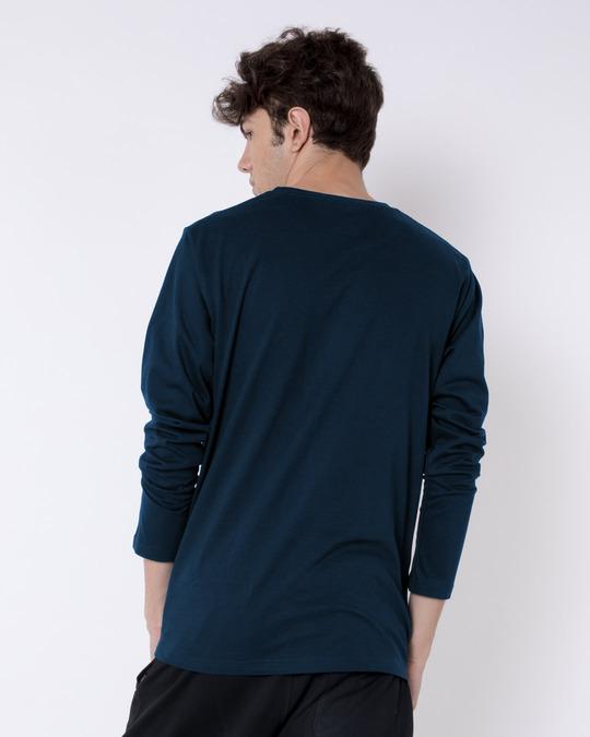 Shop Karma Loop Full Sleeve T-Shirt Navy Blue-Back