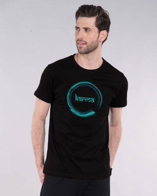Shop Karma Swish Half Sleeve T-Shirt-Front