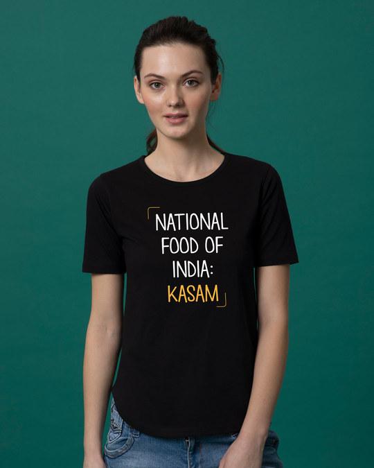 Shop Kasam Basic Round Hem T-Shirt-Front