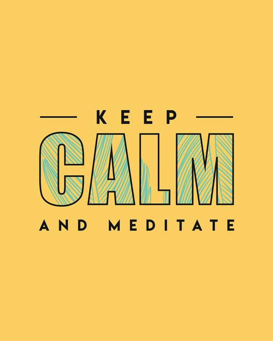 Shop Keep Calm And Meditate Full Sleeve T-Shirt-Full