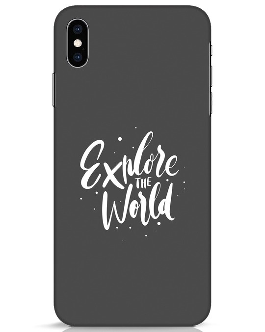 Shop Keep Exploring iPhone XS Max Mobile Cover-Front