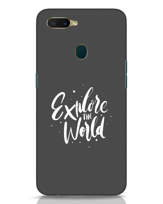 Shop Keep Exploring Oppo A7 Mobile Cover-Front