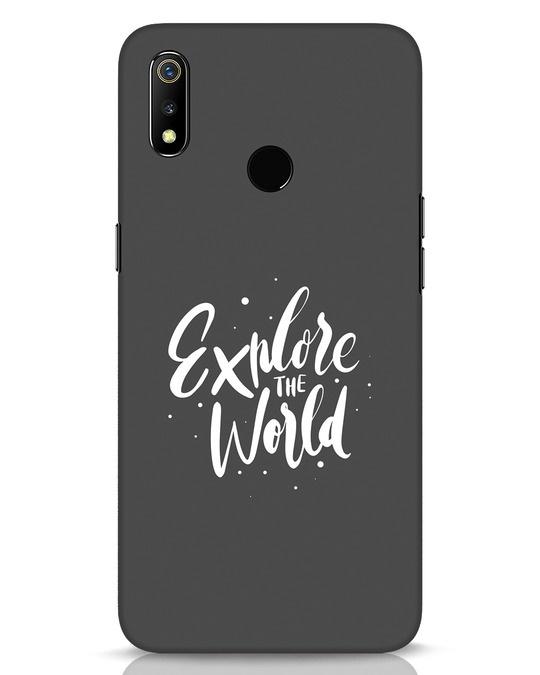 Shop Keep Exploring Realme 3 Mobile Cover-Front