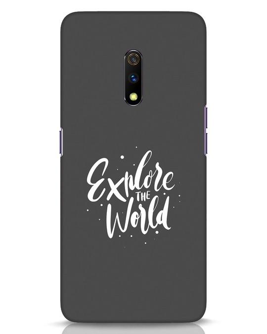 Shop Keep Exploring Realme X Mobile Cover-Front