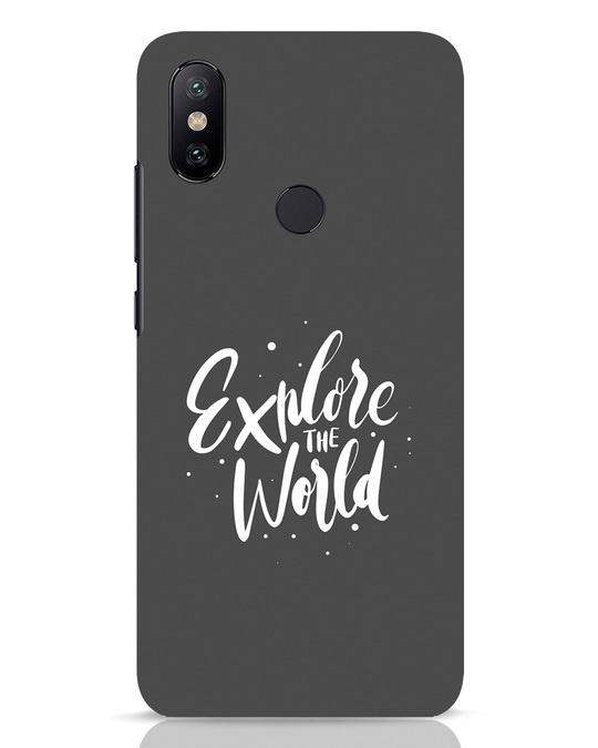 Shop Keep Exploring Xiaomi Mi A2 Mobile Cover-Front