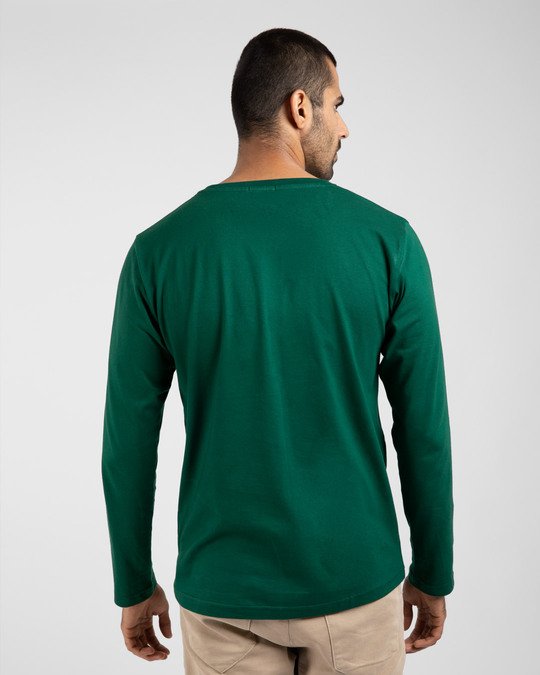 Shop Keep It Simple Full Sleeve T-Shirt Forest Green-Design