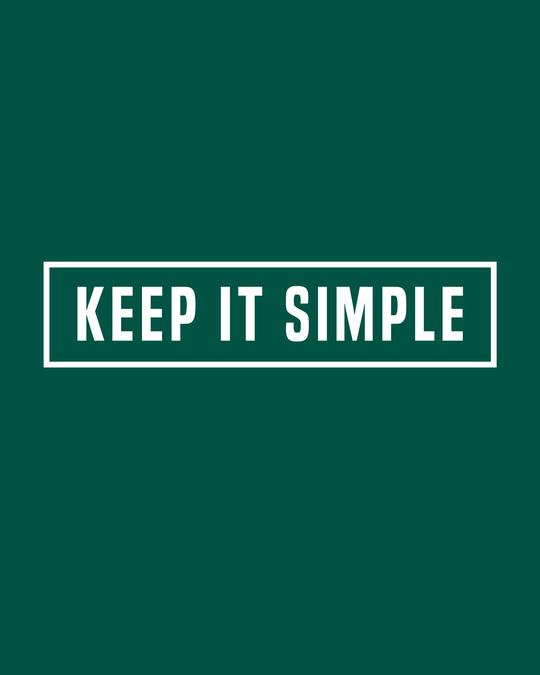 Shop Keep It Simple Full Sleeve T-Shirt Forest Green