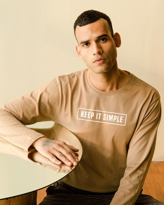 Shop Keep It Simple Full Sleeve T-Shirt-Front