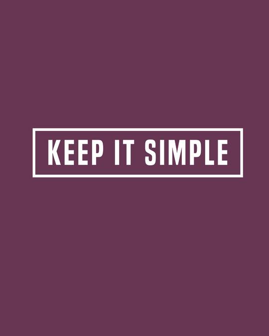 Shop Keep It Simple Half Sleeve T-Shirt-Full