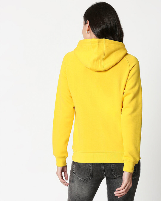 Shop Keep Loving Yourself Sweatshirt Hoodie Old Gold-Back