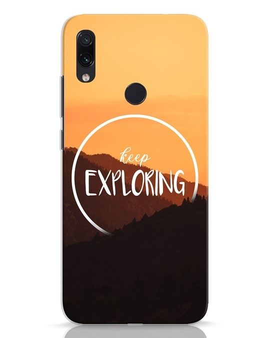 Shop Keep On Exploring Xiaomi Redmi Note 7 Mobile Cover-Front