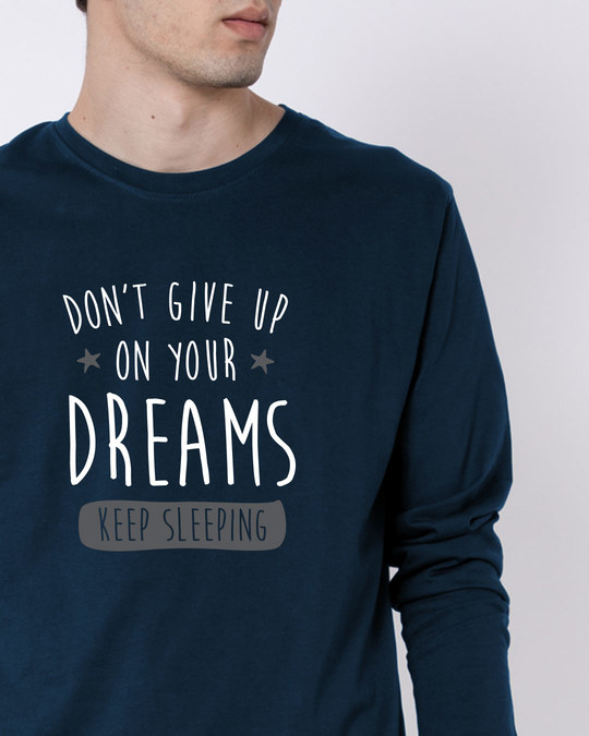 Shop Keep Sleeping Full Sleeve T-Shirt-Front