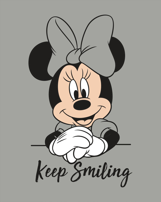 Shop Keep Smiling Minnie Scoop Neck Full Sleeve T-Shirt (DL)