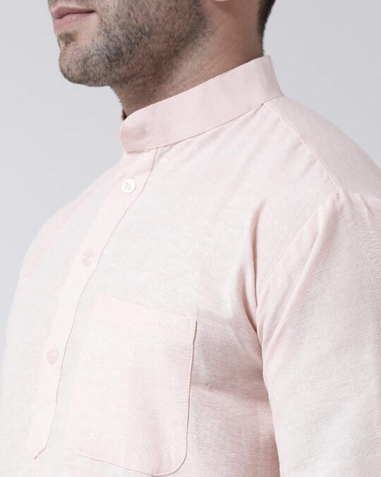 Shop Mens Pure Cotton Solid Short Kurta In Full Sleeve