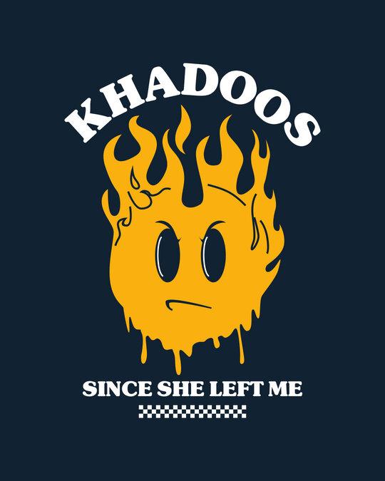 Shop Khadoos Half Sleeve Raglan T-Shirt Navy Blue-White  -Full