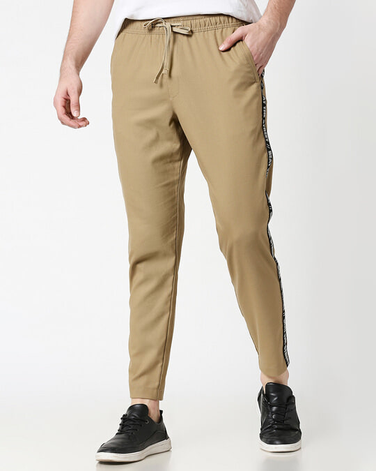 Shop Khaki Men's Casual Pants-Front