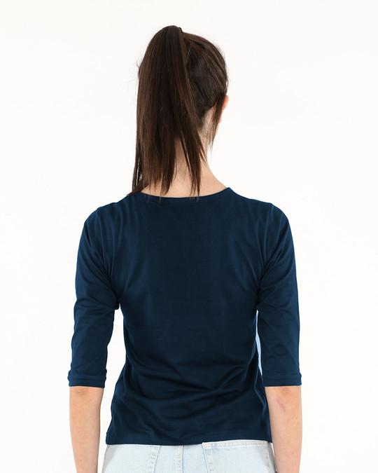 Shop Khanti Bangali Round Neck 3/4th Sleeve T-Shirt-Full