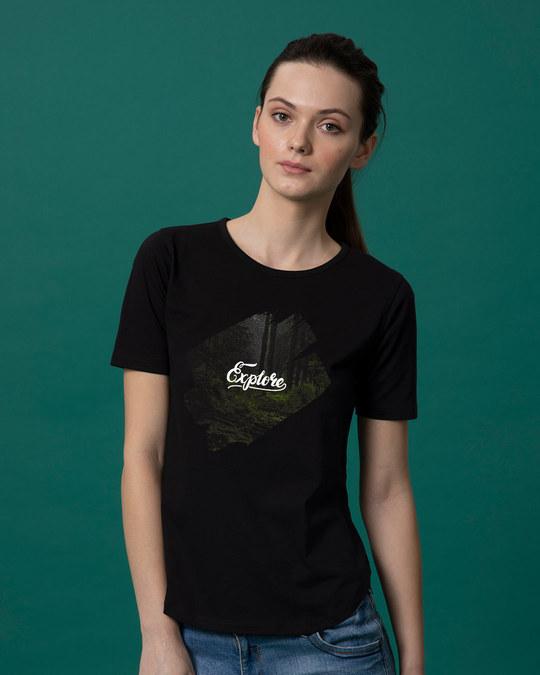 Shop Kho Jao Basic Round Hem T-Shirt-Front