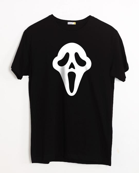 Shop Killer Mask Half Sleeve T-Shirt (GID)-Front