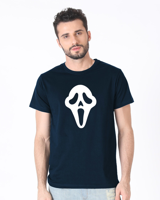 Shop Killer Mask Half Sleeve T-Shirt (GID)-Back
