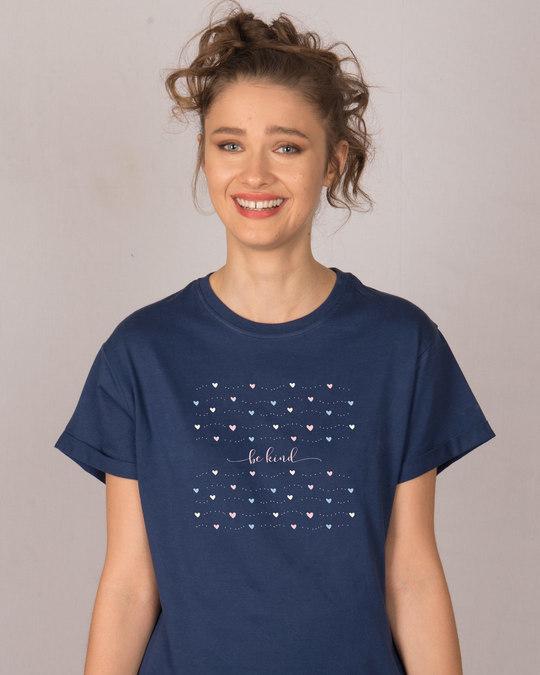 Shop Kindness And Love Boyfriend T-Shirt-Front