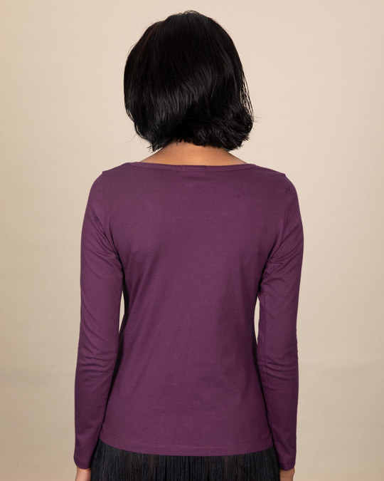 Shop Kindness And Love Scoop Neck Full Sleeve T-Shirt-Back