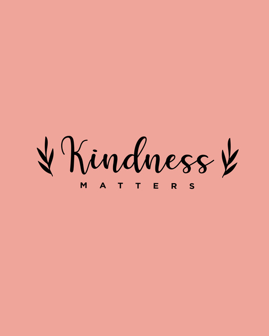 Shop Kindness Matters Round Neck 3/4 Sleeve T-Shirts Misty Pink-Full