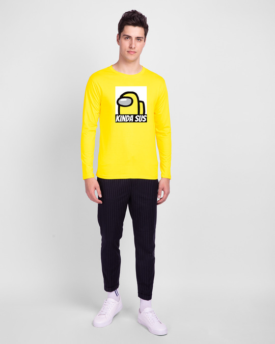 Shop Kinds Sus Imposter Full Sleeve T-Shirts Pineapple Yellow-Design