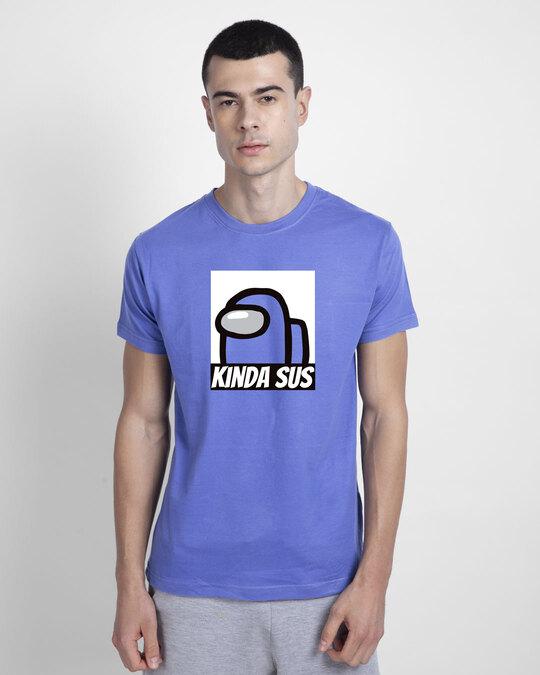 Shop Kinds Sus Imposter Half Sleeve T-shirt Blue Haze-Back