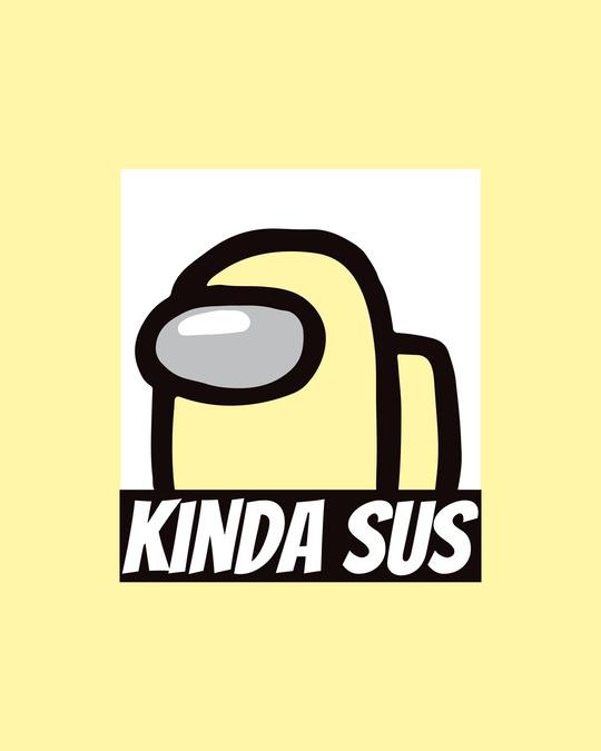 Shop Kinds Sus Imposter Round Neck Vest Pastel Yellow
