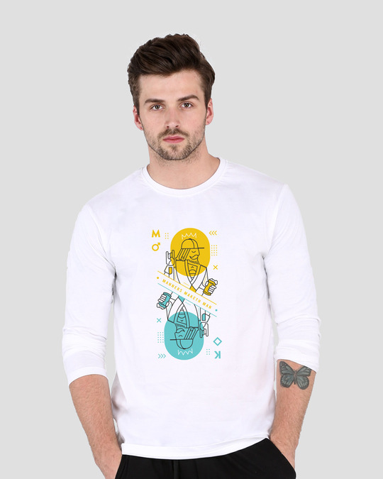 Shop King Card  Full Sleeve T-Shirt-Front