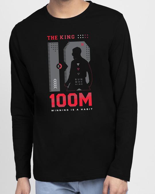 Shop King K 100M Full Sleeve T-Shirt Black-Front