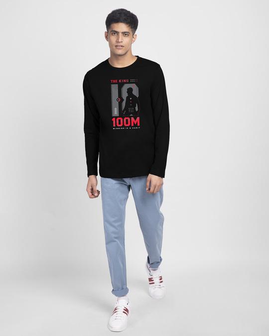 Shop King K 100M Full Sleeve T-Shirt Black-Full