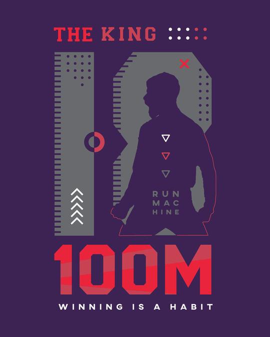 Shop King K 100M Round Neck Vest Parachute Purple